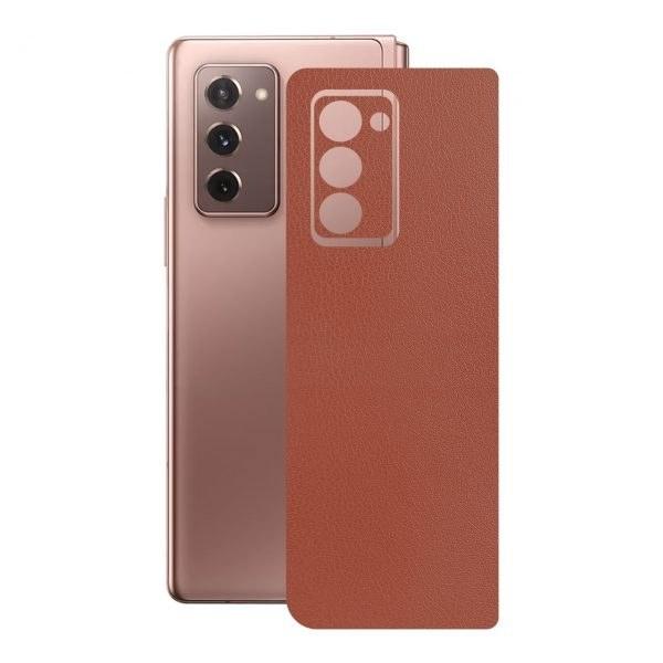 تصویر برچسب پوششی راک اسپیس طرح  Leather-BR مناسب برای گوشی موبایل  سامسونگ  Galaxy  Z  Fold2