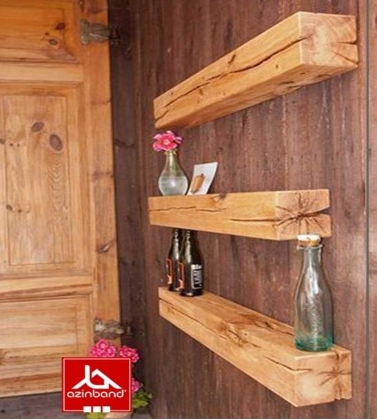 شلف دیواری چوبی پک سه عددی آذین بند