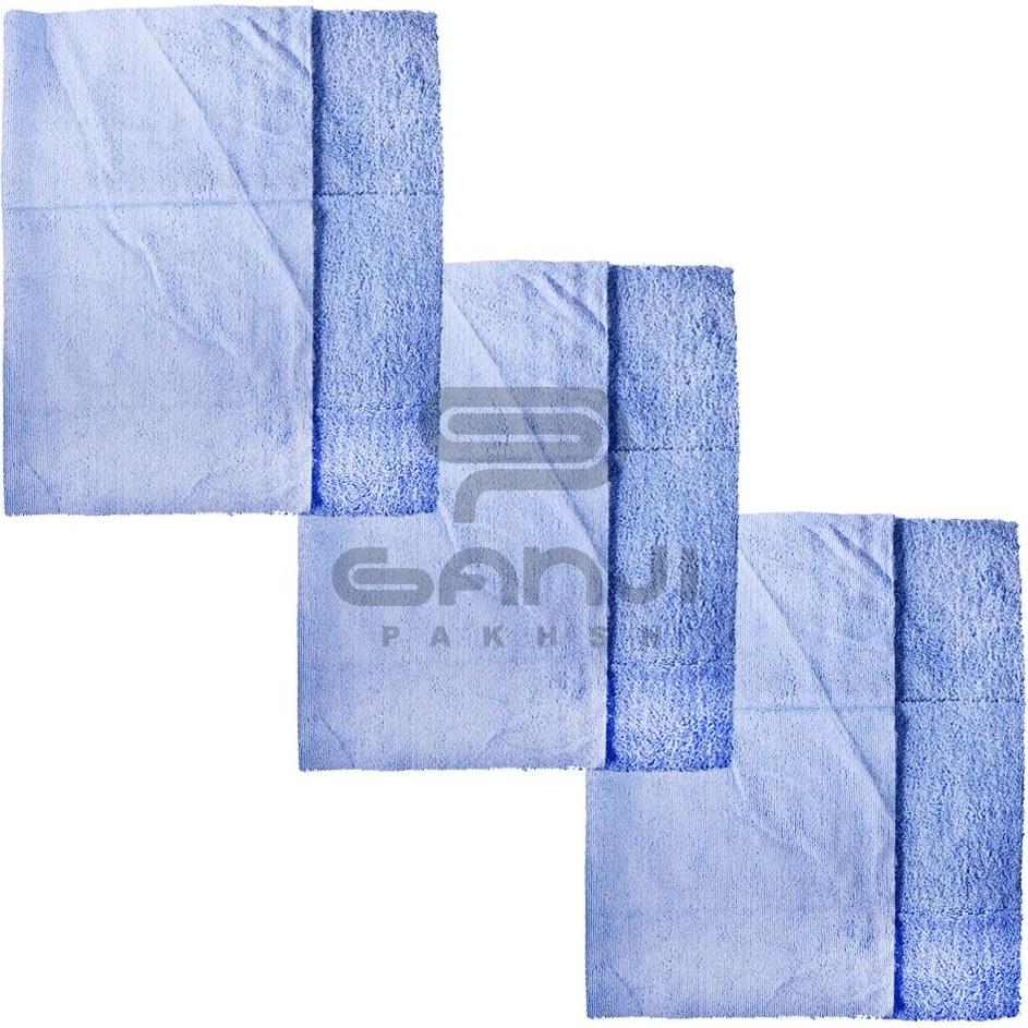 main images پک 3 عددی حوله مایکروفایبر تمیز کننده دستمال میکروفایبر مخصوص خودرو