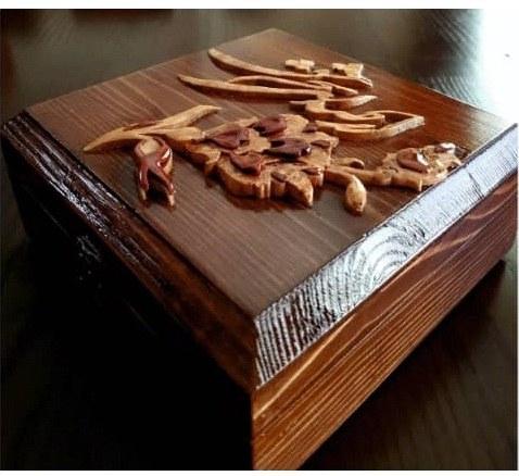 جعبه منبت و معرق تمام چوب کد ۰۱۳