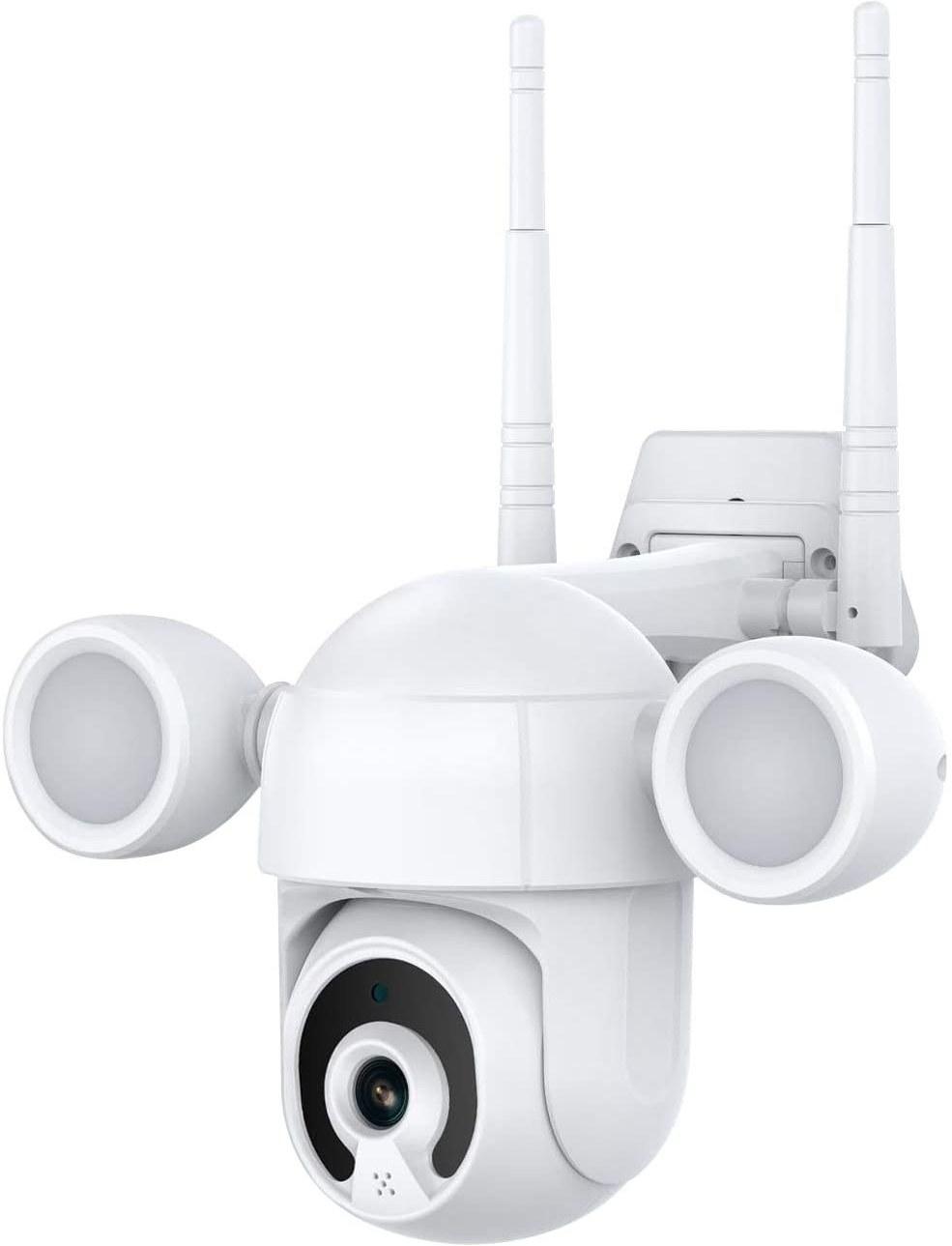 تصویر دوربین مداربسته هوشمند وای فای مجهز به نورافکن