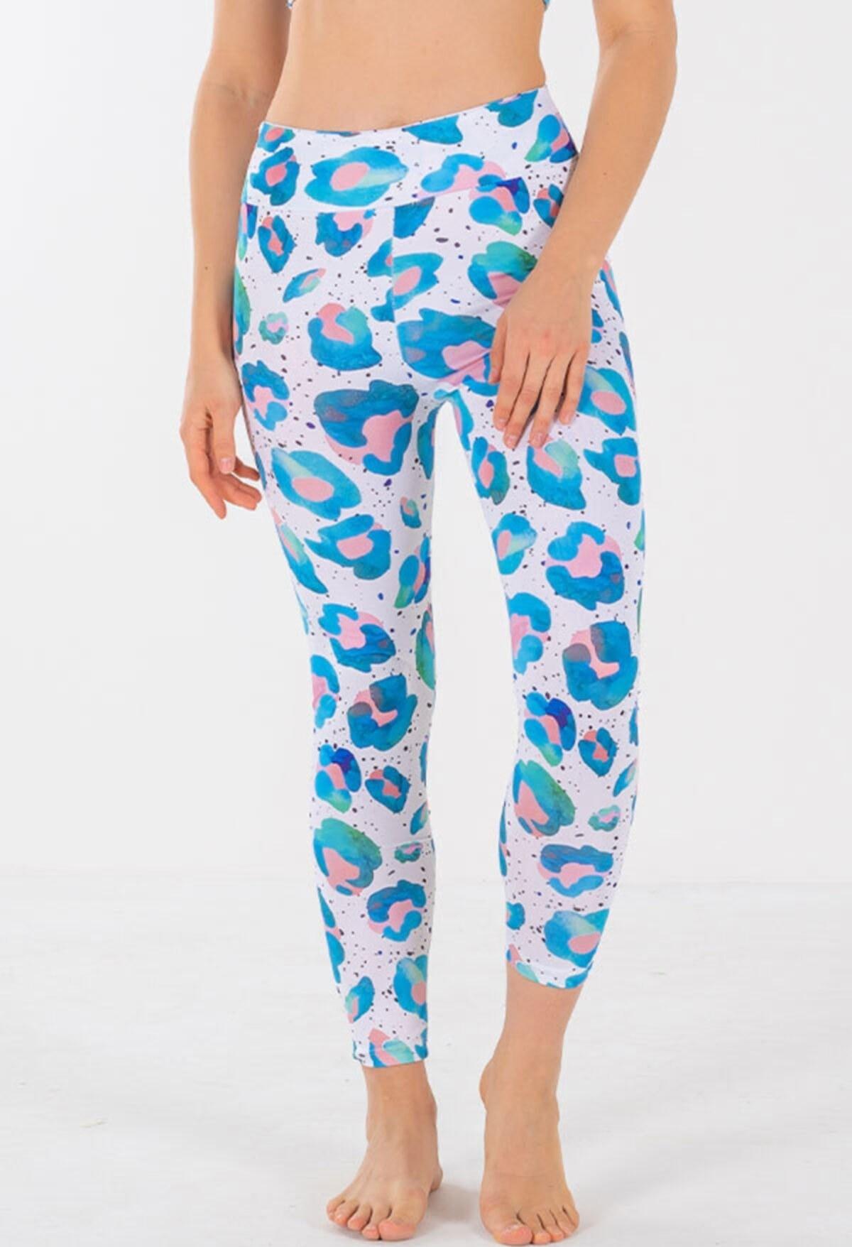 تصویر خرید نقدی لگ ورزشی زنانه جدید برند Yamuna رنگ آبی کد ty108103049