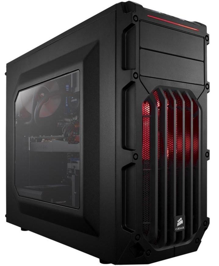 تصویر کیس کورسیر مدل کارباید اسپک-03 کیس Case کورسیر Carbide SPEC-03 Red LED Mid-Tower Gaming Case
