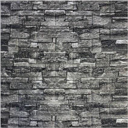 تصویر دیوارپوش فومی پشت چسبدار طرح آجر طوسی چینی کد 160