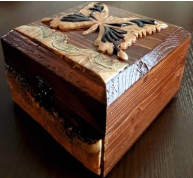 جعبه منبت و معرق تمام چوب کد ۰۱۲
