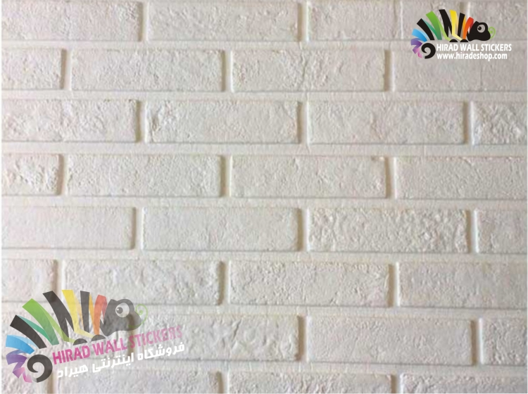 دیوارپوش فومی پشت چسبدار طرح آجر سفید 2 کد FB-White 2