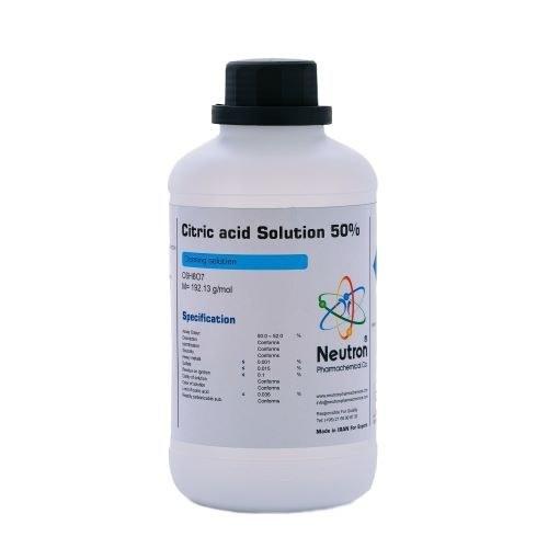 تصویر اسید سیتریک ۵۰% cleaning نوترون پلی اتیلن حجم ۲٫۵ لیتر