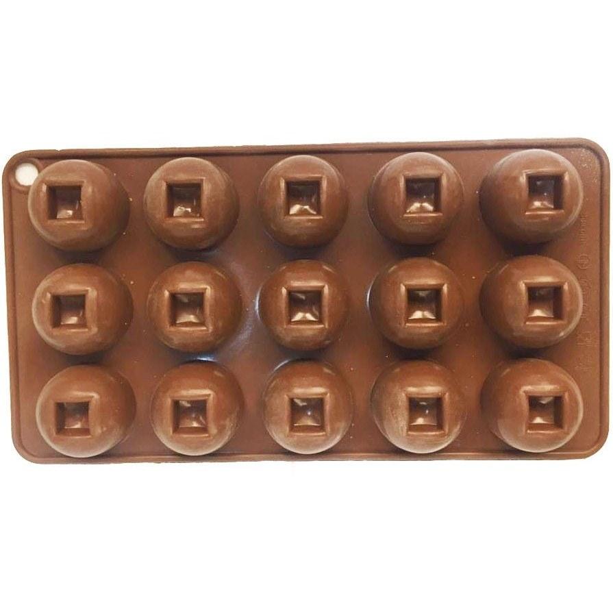 تصویر قالب سیلیکون شکلات گرد