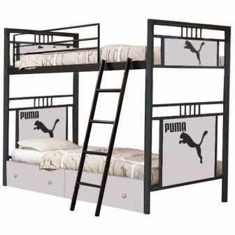 تخت خواب دو طبقه کد NA03 سایز 90x200 سانتیمتر             غیر اصل