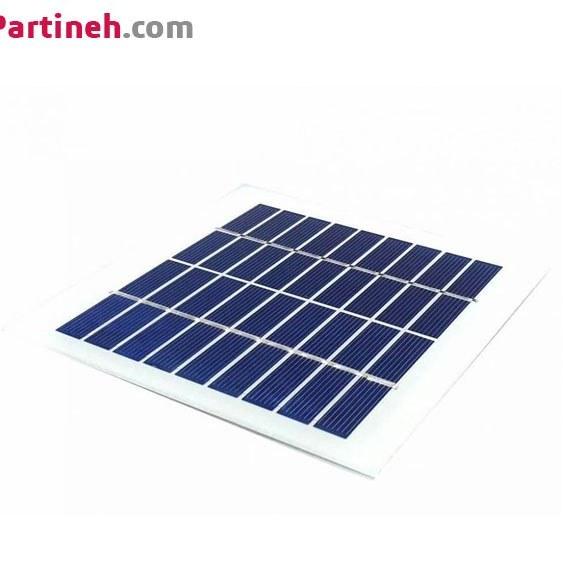سلول خورشیدی (solar panel) ولتاژ 9 و جریان 220 میلی آمپر (135 * 125)