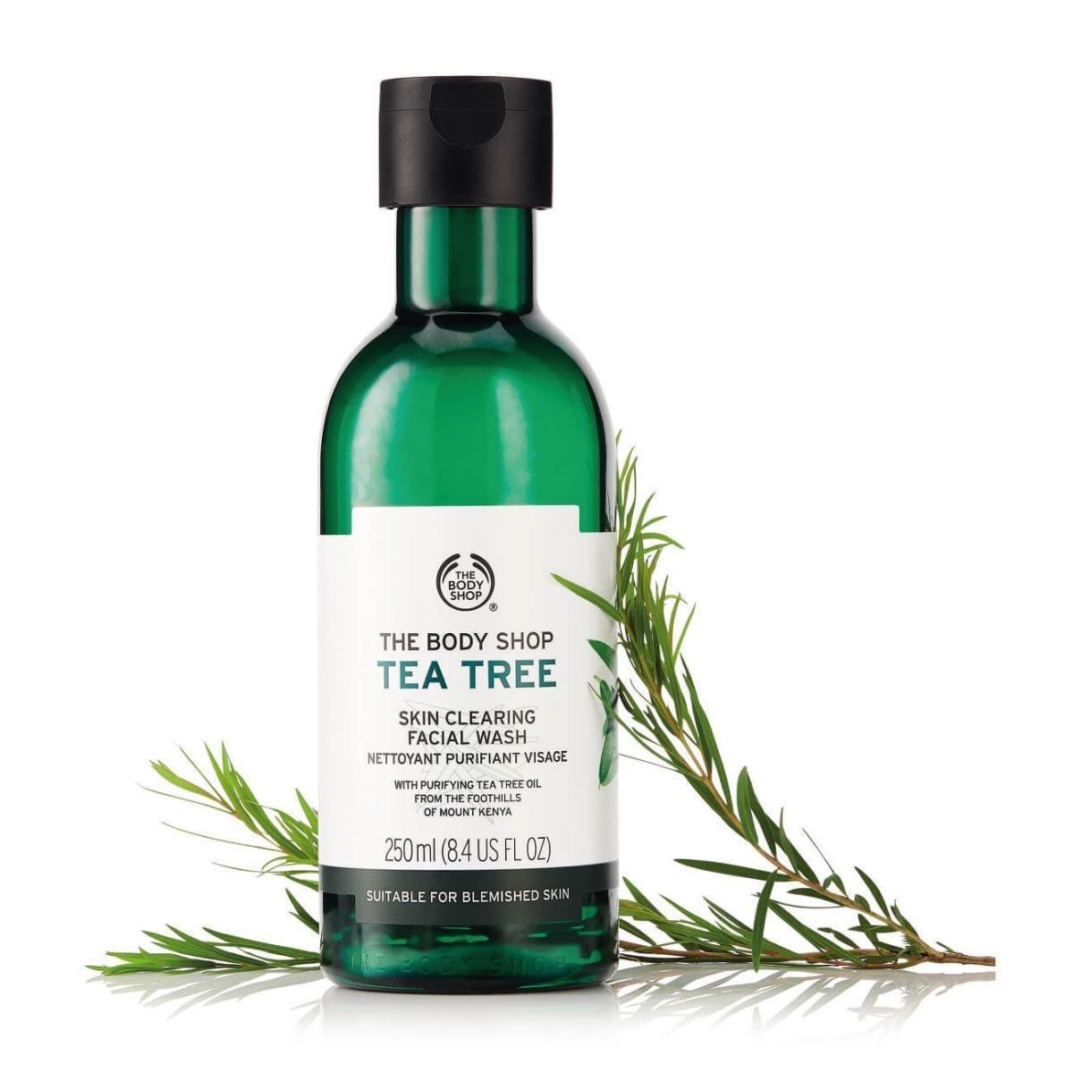 تصویر ژل شستشوی صورت بادی شاپ سری چای سبز حجم 250 میلی لیتر The Body Shop Tea Tree Skin Clearing Facial Wash 250ml