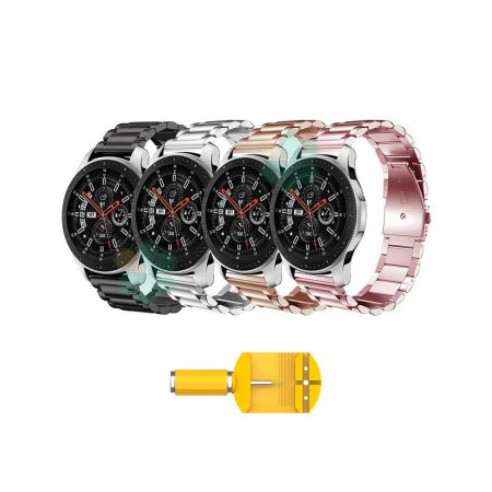 بند ساعت هوشمند سامسونگ Galaxy Watch 46mm مدل استیل 3Pointers | Metal Steel 3Pointers Band for Samsung Galaxy Watch 46mm