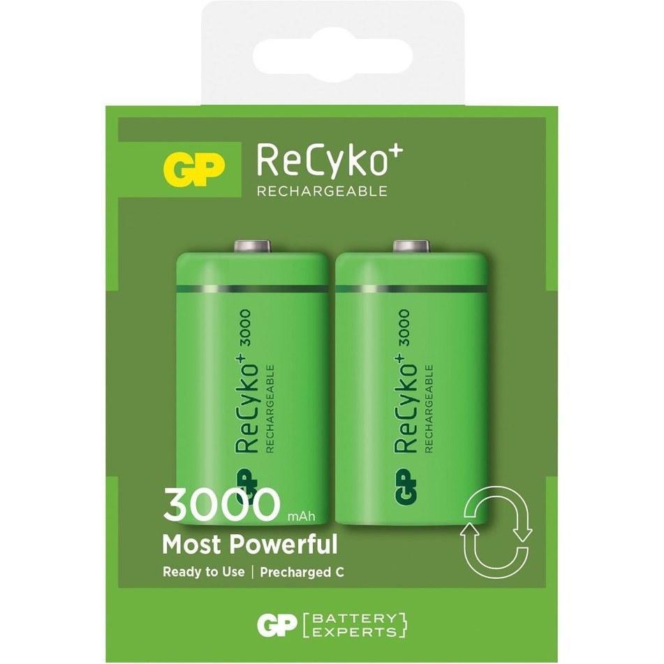 باتری متوسط شارژی (قابل شارژ) جی پی (GP) 3000 میلی آمپر - 2 عددی