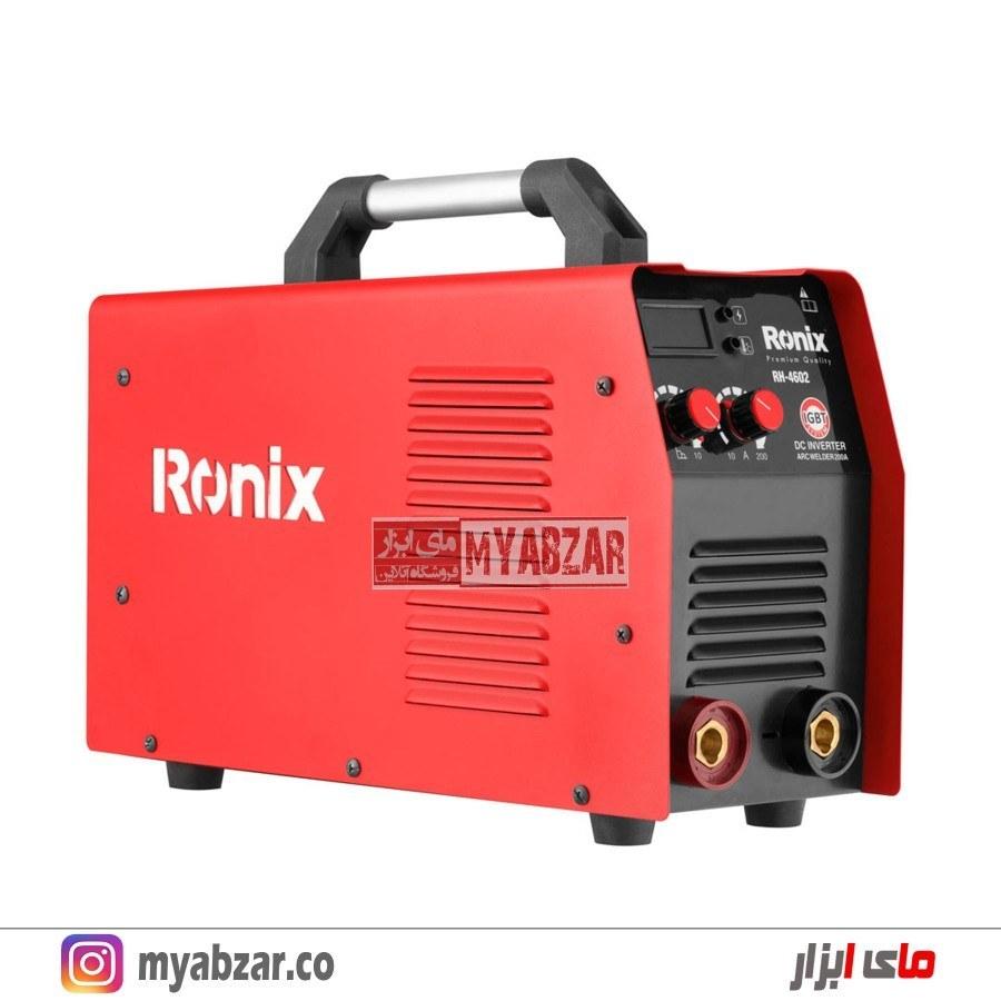 تصویر اینورتر جوشکاری رونیکس مدل RH-4602 اینورتر جوشکاری رونیکس مدل RH-4602