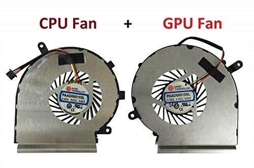 main images فن خنک کننده DBParts جدید CPU GPU برای MSI GE62 GL62 GE72 GL72 GP62 GP72 PE60 PE70 Series، P / N: PAAD06015SL-N039 PAAD06015SL-N303 PAAD06015SL-N285، 3 Pin 3 Wire
