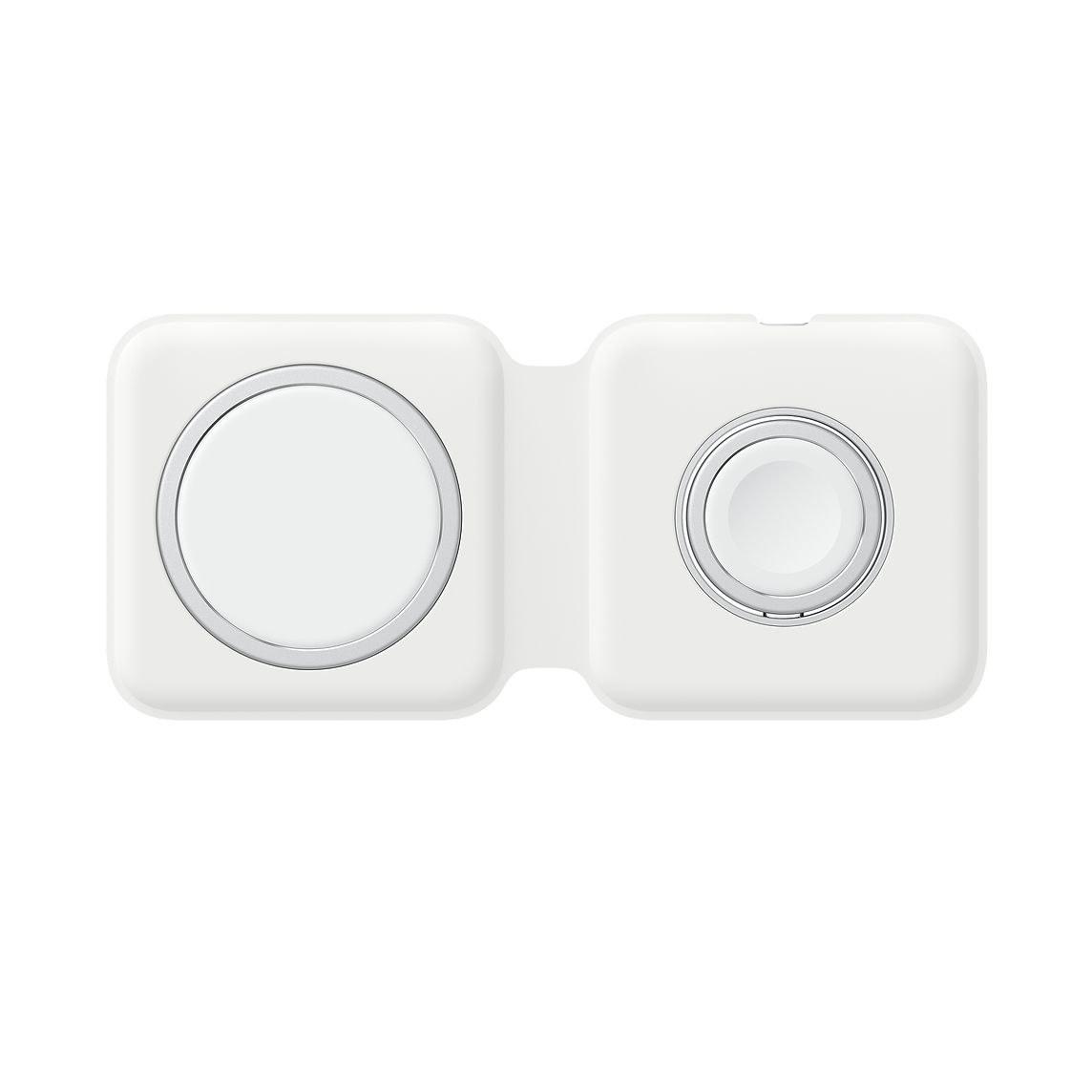 تصویر کابل شارژ اورجینال مگ سیف دوگانه اپل مدل MagSafe Duo مناسب برای آیفون، ایرپاد و آیواچ Apple MagSafe Charger for iPhone and AirPods