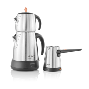 تصویر چای ساز آرزوم AR3007 به همراه قهوه جوش Arzum AR3007 Ehlikeyif Delux Tea And Coffee Maker Set