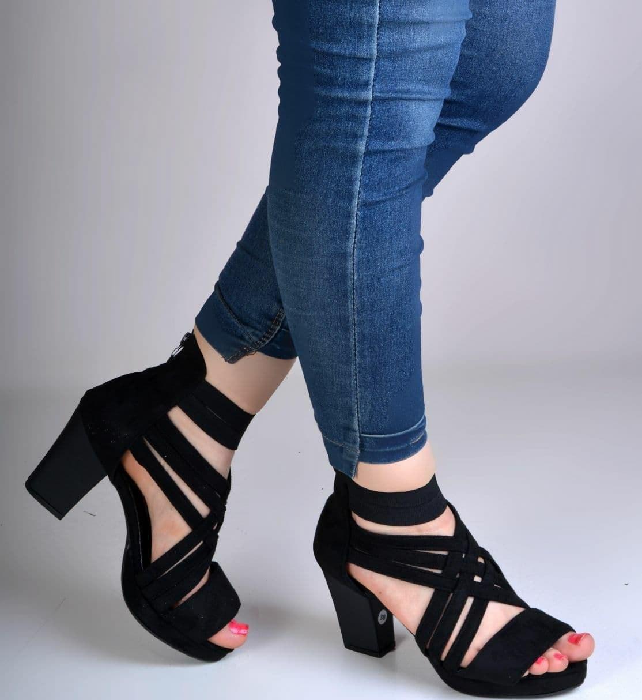 تصویر کفش مجلسی روباز پاشنه دار زنانه دخترانهds00116