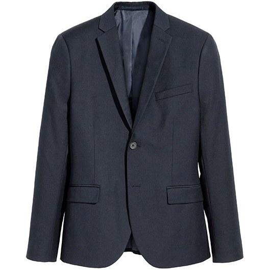 تک کت مردانه سرمه ای H&M