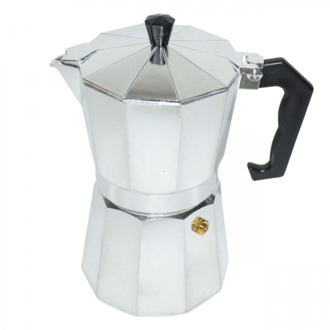تصویر قهوه جوش و اسپرسو ساز دستی مدل 6 Cup stainless steel coffe maker 6cup