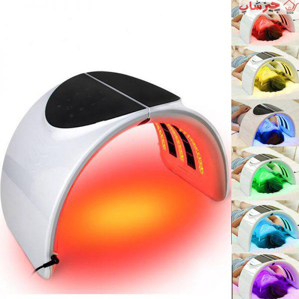 تصویر ماسک تونلی ال ای دی تاشوی 7 رنگ led facial mask 7 colors