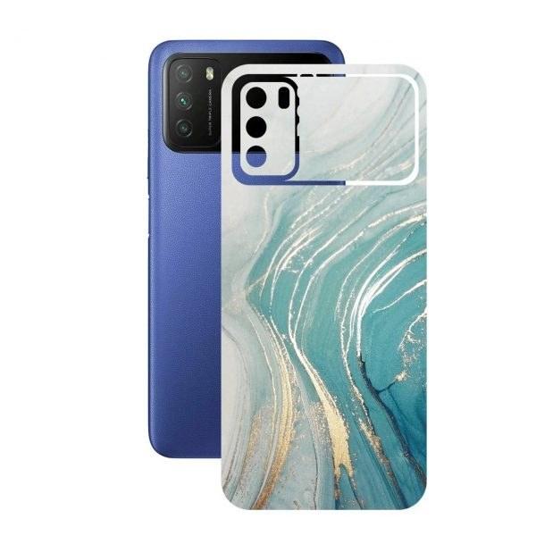 تصویر برچسب پوششی راک اسپیس طرح Marble-GN مناسب برای گوشی موبایل  شیائومی POCO M3