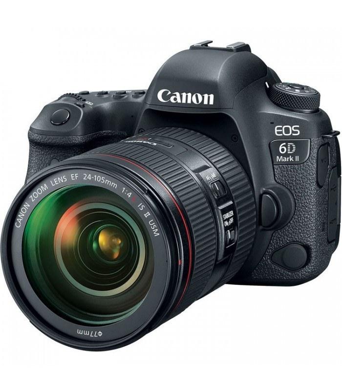 تصویر دوربین دیجیتال Canon DSLR EOS 6D Mark II + لنز ۲۴-۱۰۵ میلی متر F4 L IS II USM Canon DSLR EOS 6D Mark II Digital Camera + 24-105mm F4 IS II USM Lens