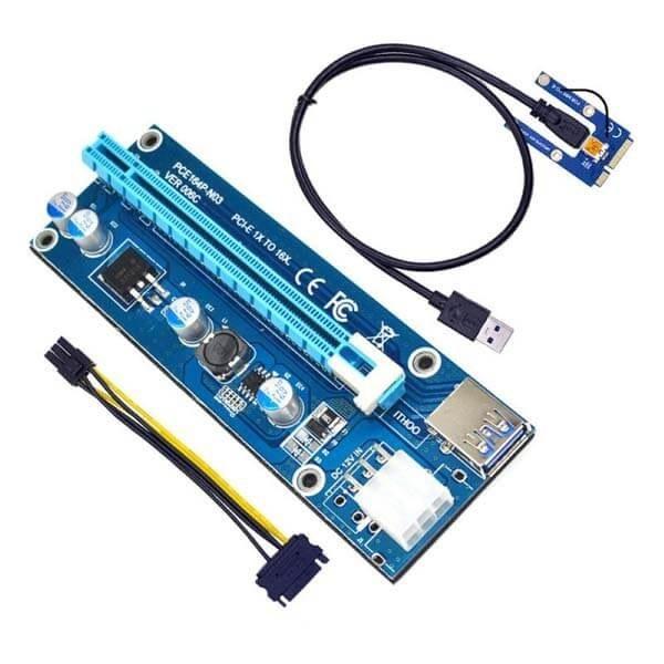 تصویر رایزر کارت گرافیک تبدیل PCI EXPRESS 1X به 16Xمدل 008S مناسب برای لپ تاپ