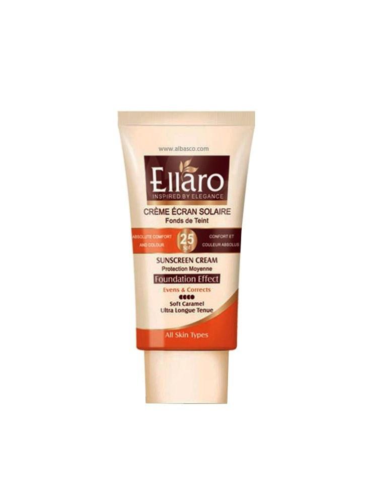 تصویر کرم ضد آفتاب رنگی الارو ELLARO مدل SPF+25 حجم 40 میلی لیتر ELLARO colored sunscreen model SPF + 25 volume 40 ml