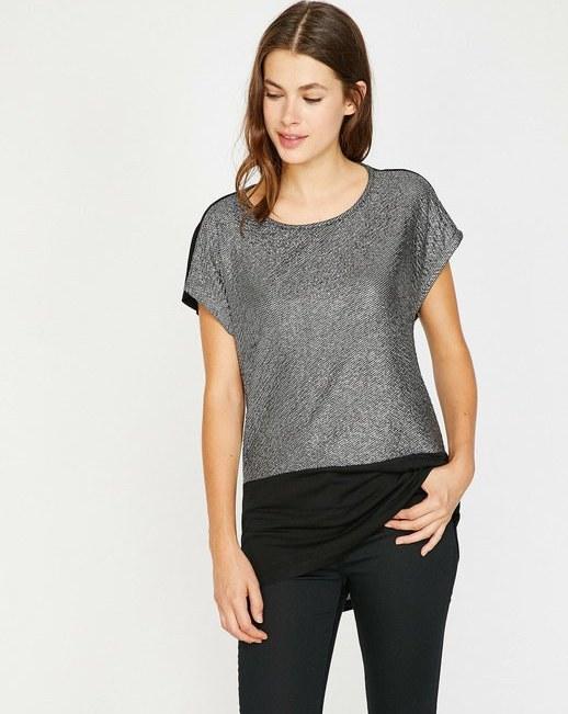 تی شرت آستین کوتاه زنانه کوتون   تی شرت آستین کوتاه کوتون با کد 8YAK13094EK038