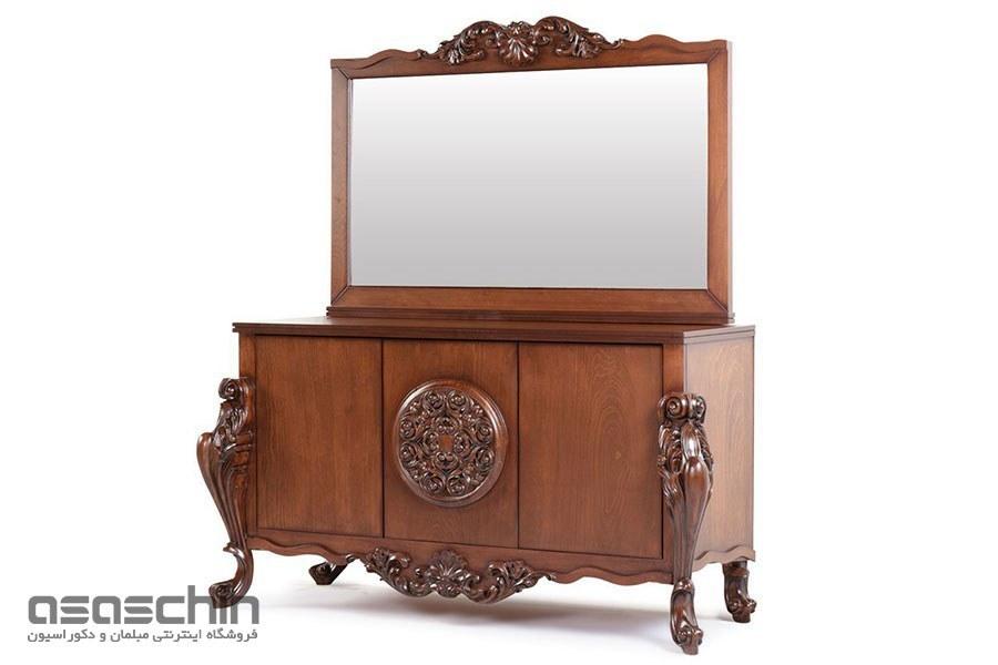 تصویر میز کنسول و آینه اولیندا