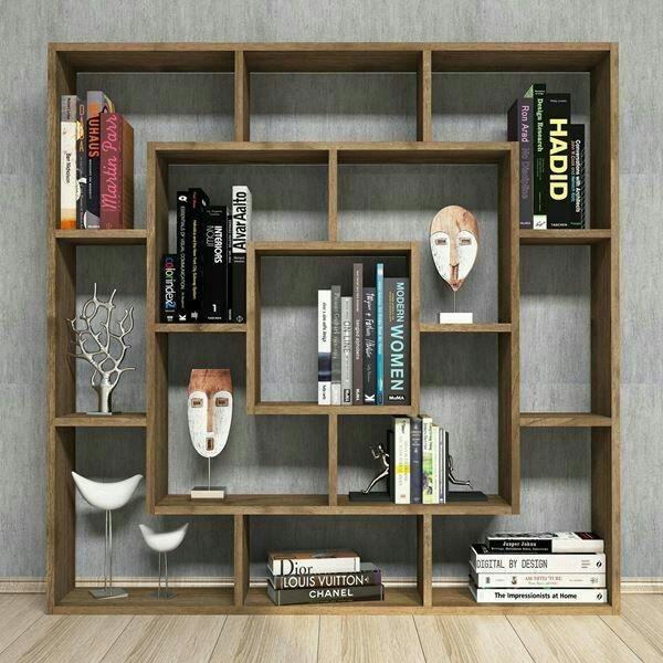 کتابخانه مدل سه مربع تو در تو |