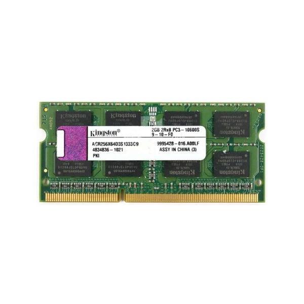 رم لپ تاپ کینگستون مدل DDR3 1333MHz 10600 ظرفیت 2 گیگابایت |