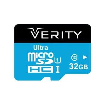 کارت حافظه microSDHC وریتی کلاس 10 استاندارد UHS-I U1 سرعت 65MBps ظرفیت 32 گیگابایت | Verity U1 Class 10 65MBps microSDHC - 32GB