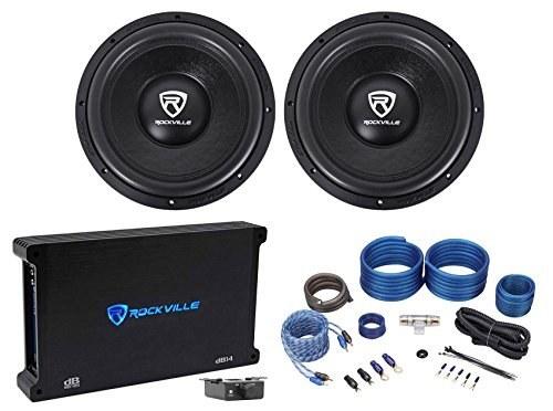 """تصویر (2) Rockville W12K6D2 V2 12 """"4800w سابووفرهای صوتی اتومبیل مونو تقویت کننده آمپلی فایر (2) Rockville W12K6D2 V2 12"""" 4800w Car Audio Subwoofers+Mono Amplifier+Amp Kit"""
