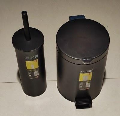 تصویر سطل و برس 3 لیتری گرد مشکی 008 کنتراست