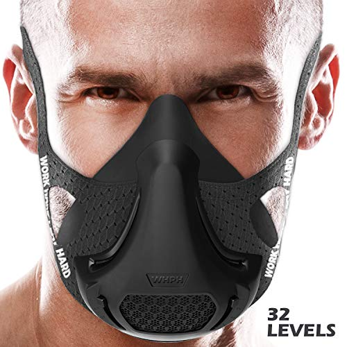 VO2MAX Training Mask - Workout High Altitude Elevation Simulation Oxygen Air - for Gym, Cardio, Fitness, Running, Endurance, Resistance and HIIT