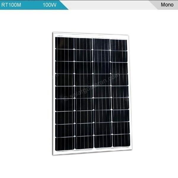 تصویر پنل خورشیدی 100 وات مونوکریستال Restar مدل RT100-M