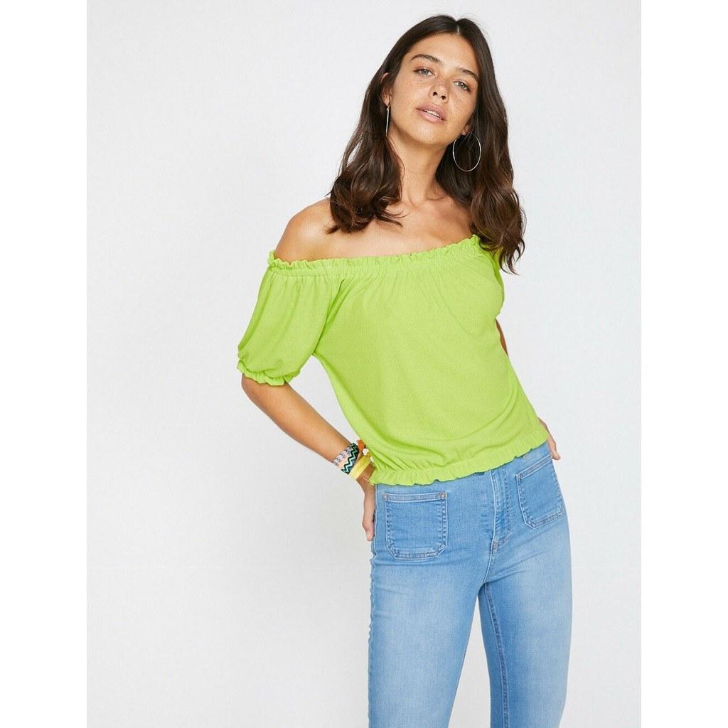 عرضه مستقیم تیشرت سبز دخترانه برند کوتون koton از استانبول