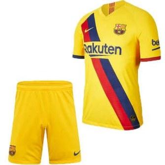ست پیراهن و شورت ورزشی پسرانه طرح بارسلونا کد 2019 Y |