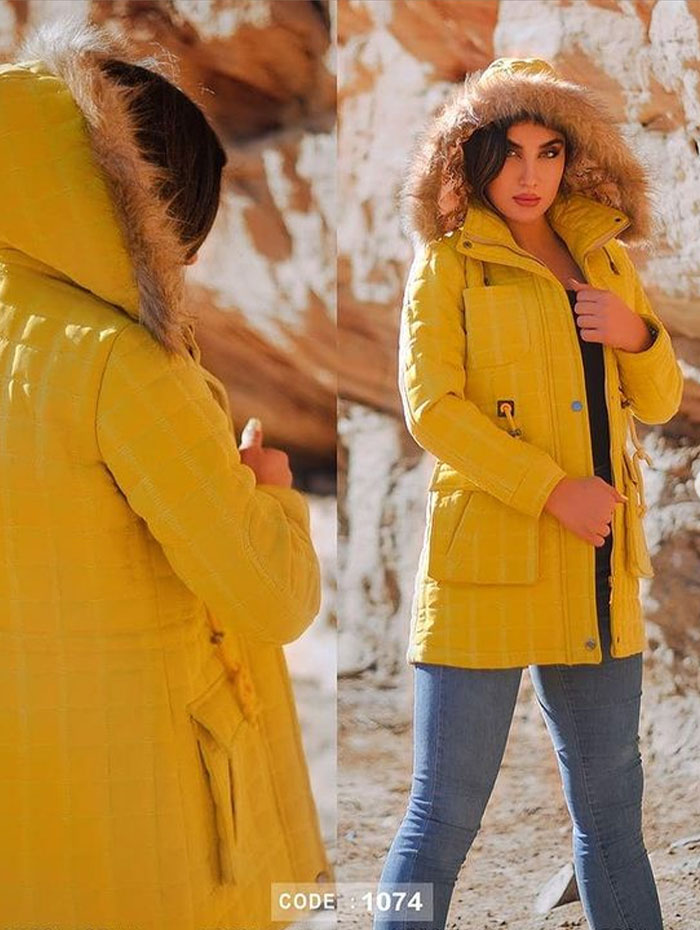 تصویر پالتو زنانه مدل 1074 رنگ یاسی XL