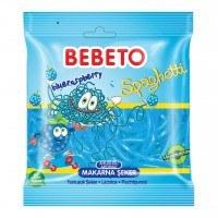 تصویر پاستیل شکری رشته ای با طعم تمشک ببتو Bebeto Blueraspberry Spaghetti