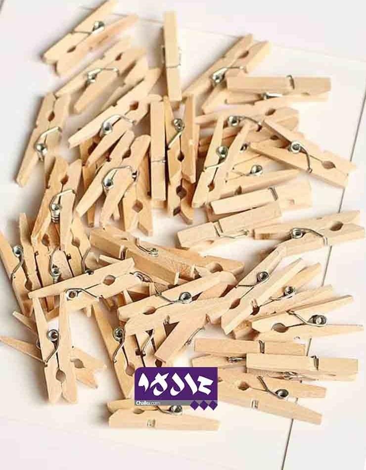 تصویر گیره چوبی ساده