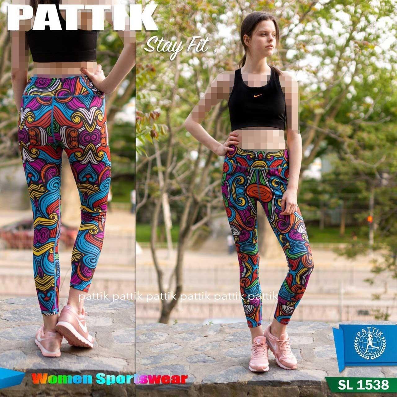 تصویر لگ ورزشی زنانه پاتیک SL-1538 PATTIK SL-1538 Women's Sports Leggings
