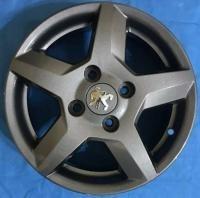 تصویر رینگ پژو سایز 14 کد RS 77 دودی (نیریز) Wheel 14 Inch Code RS77