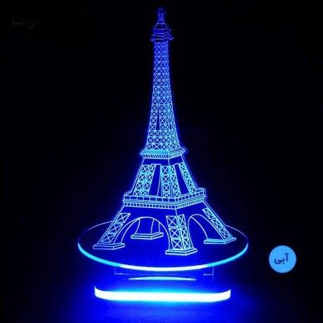 تصویر چراغ خواب سه بعدی طرح برج ایفل کد CHKH-022