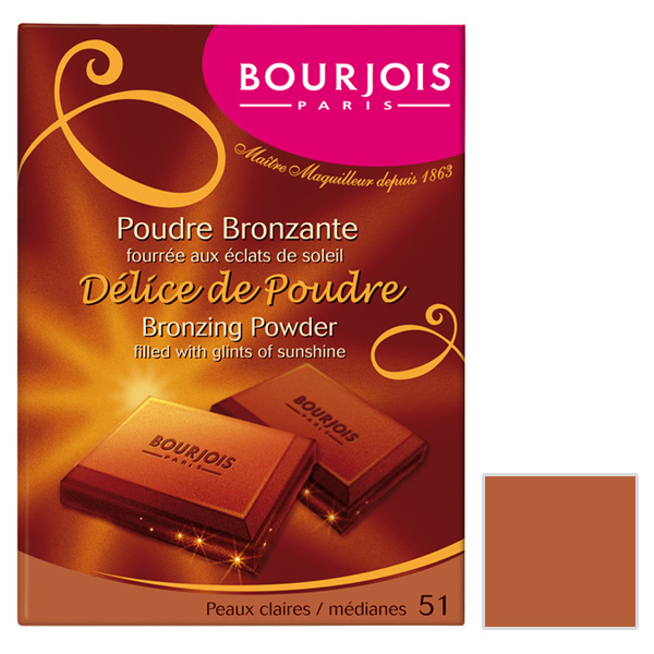 پودر برنزه بورژوآ مدل Delice De Poudre شماره 51
