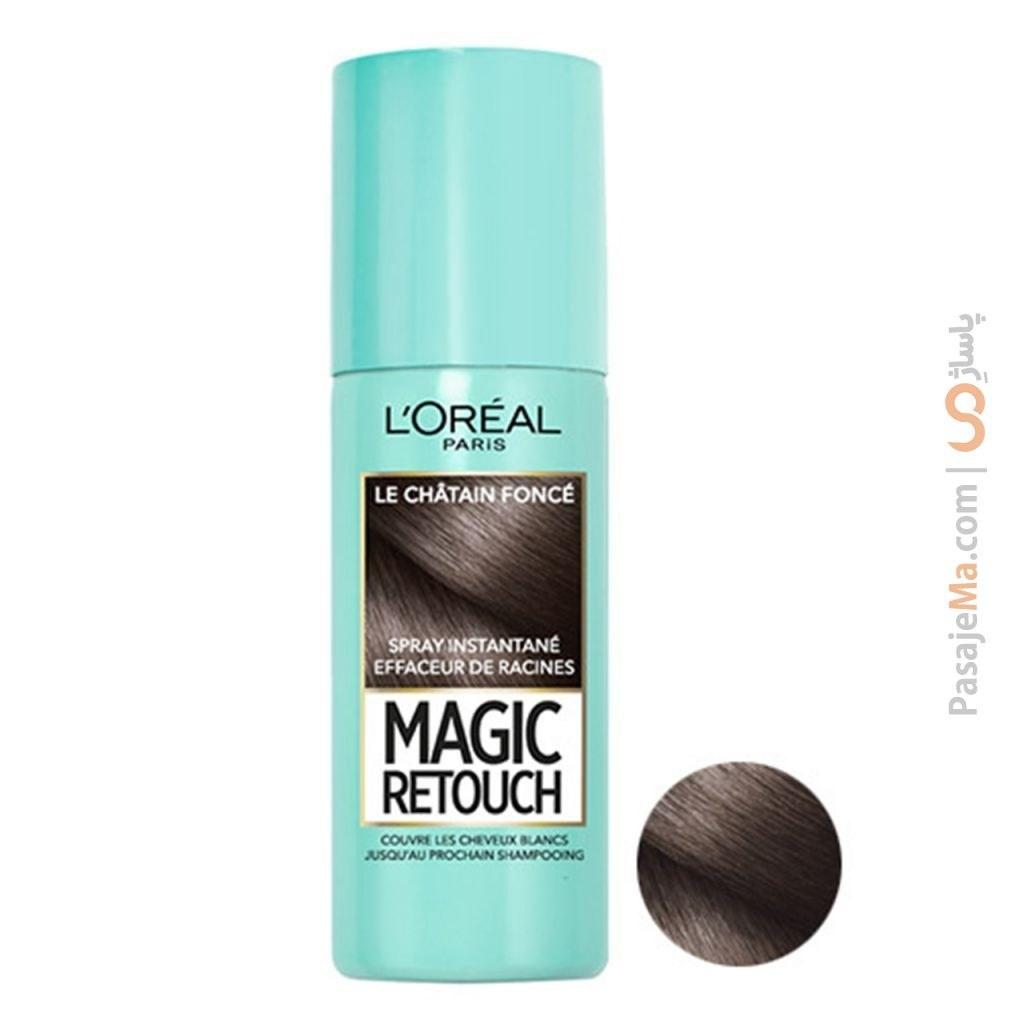 تصویر اسپری کانسیلر مو لورال سری Magic Retouch حجم 75 میلی لیتر Loreal Magic Retouch Concealer Spray 75ml