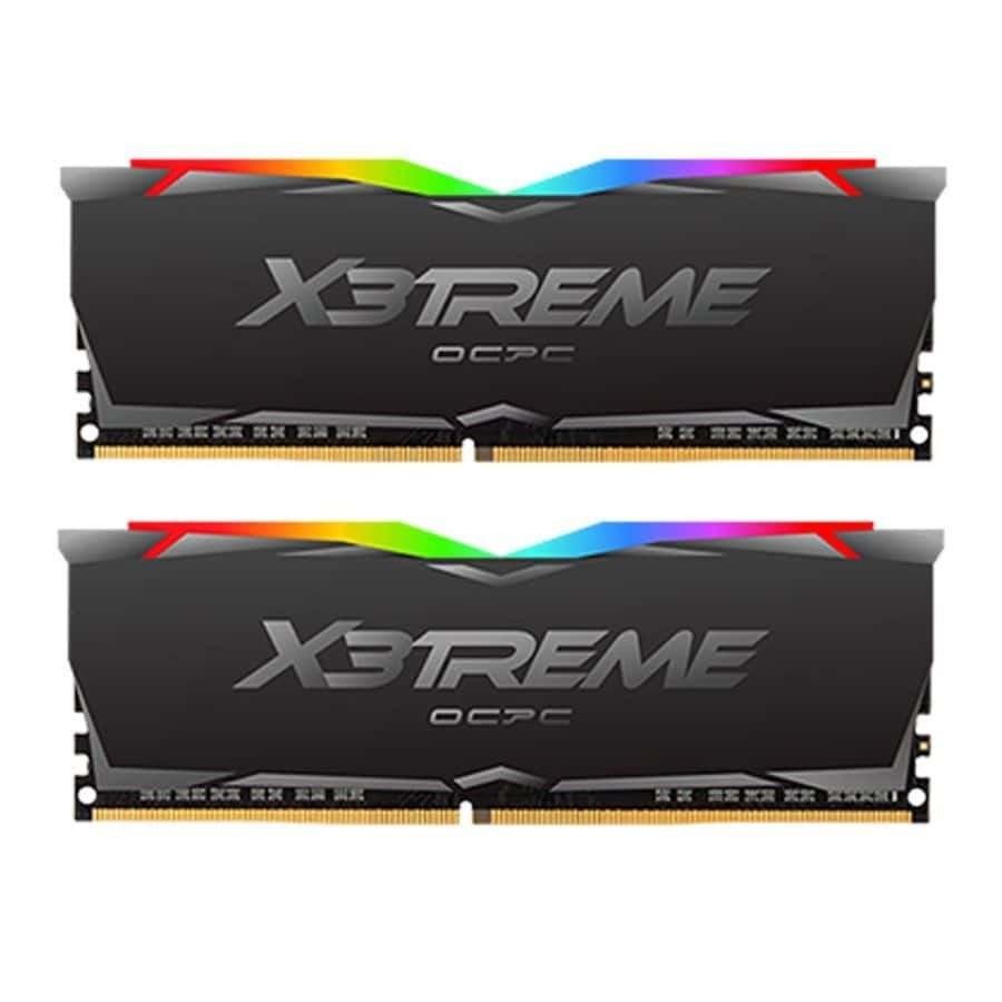 تصویر رم دسکتاپ OCPC X3 RGB Black DDR4 3200MHz 16GB (8GBx2) CL16 Dual Desktop RAM ا OCPC X3 RGB Black DDR4 3200MHz 16GB (8GBx2) CL16 Dual Desktop RAM OCPC X3 RGB Black DDR4 3200MHz 16GB (8GBx2) CL16 Dual Desktop RAM