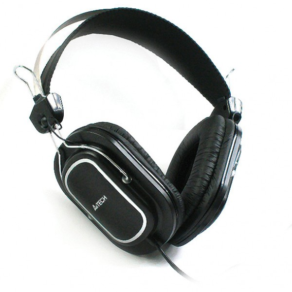 تصویر هدست ای فورتک مدل HS-200 A4Tech HS-200 Stereo Headset with Integrated Volume / Microphone Control Black
